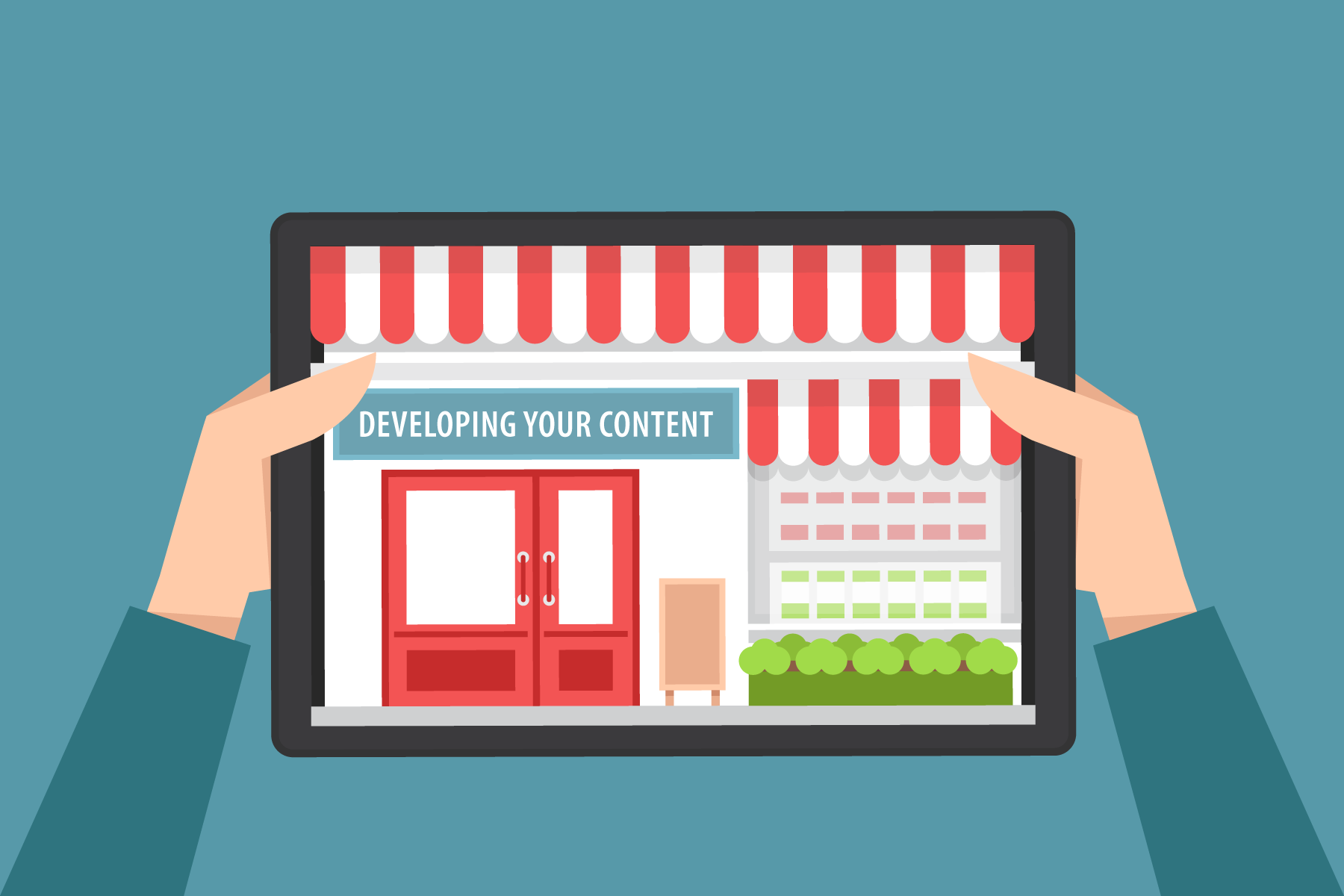 developing website content