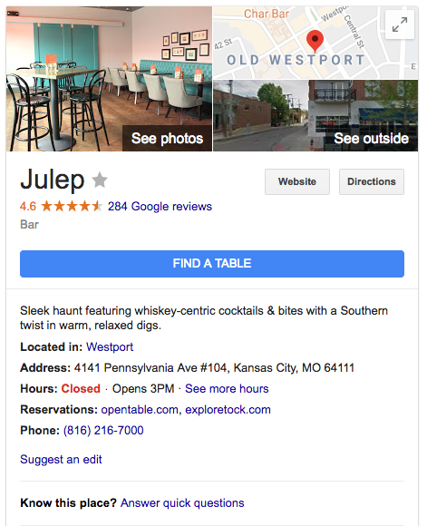 Google-my-business-listing-julep