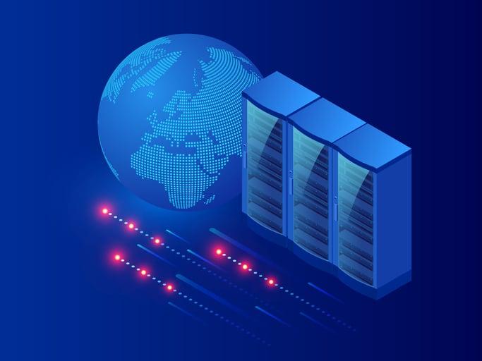 hosting-server-concept